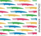 colorful crocodiles seamless... | Shutterstock .eps vector #359787422
