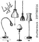 set of lamps. hand drawn... | Shutterstock .eps vector #359788316