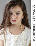 portrait of a charming brunette ... | Shutterstock . vector #359792702