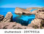 the blue lagoon on comino... | Shutterstock . vector #359795516