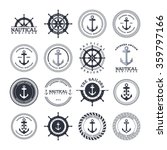 anchor sailor   nautical symbol ... | Shutterstock .eps vector #359797166