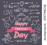 happy valentine's day objects | Shutterstock .eps vector #359798228