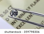 cut diamond held by tweezers... | Shutterstock . vector #359798306
