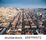 aerial view of baixa chiado and ... | Shutterstock . vector #359799572