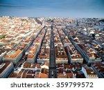 aerial view of baixa chiado and ... | Shutterstock . vector #359799572