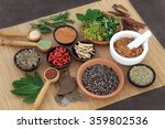 herb and spice selection used... | Shutterstock . vector #359802536
