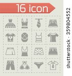 vector clothes icon set | Shutterstock .eps vector #359804552