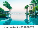 beautiful luxury hotel swimming ... | Shutterstock . vector #359820572