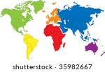 color map showing the various... | Shutterstock . vector #35982667