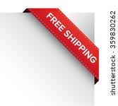 free shipping corner ribbon... | Shutterstock .eps vector #359830262