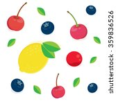 vector set of fruit sweet... | Shutterstock .eps vector #359836526