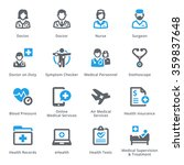 medical   health care icons set ... | Shutterstock .eps vector #359837648