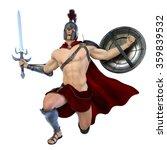 3d cg rendering of a gladiator | Shutterstock . vector #359839532