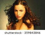 natural makeup  young woman... | Shutterstock . vector #359843846
