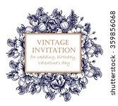 vintage delicate invitation... | Shutterstock .eps vector #359856068