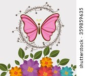 beautiful butterflies design  | Shutterstock .eps vector #359859635