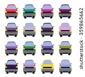 sixteen vehicles front view.... | Shutterstock . vector #359865662