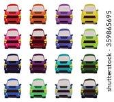 sixteen vehicles front view....   Shutterstock . vector #359865695