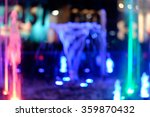 Blurred Water Fountains Light...