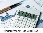 finance concept word credit... | Shutterstock . vector #359881865
