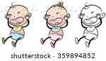 baby girl and boy crying... | Shutterstock .eps vector #359894852