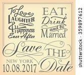 wedding quote designs | Shutterstock .eps vector #359897612