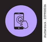 touch screen smartphone sign... | Shutterstock .eps vector #359900036
