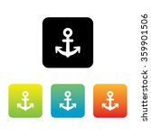 colorful set of anchor icons