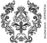 decorative elements in vintage... | Shutterstock . vector #359902916