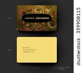 business card vector template...   Shutterstock .eps vector #359908115
