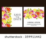 invitation with floral... | Shutterstock . vector #359911442