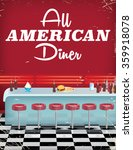 all american diner with bar and ... | Shutterstock . vector #359918078