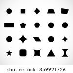 Geometric shapes set vector | Shutterstock vector #359921726