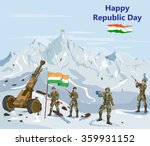 indian army showing victory of... | Shutterstock .eps vector #359931152