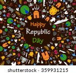 happy republic day of india in... | Shutterstock .eps vector #359931215