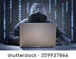 computer hacker stealing data... | Shutterstock . vector #359937866
