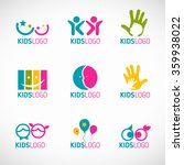 kids logo vector set design | Shutterstock .eps vector #359938022