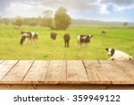 blurred background of cows on... | Shutterstock . vector #359949122