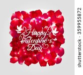 red rose vector petal square... | Shutterstock .eps vector #359955872