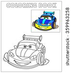 coloring book  cartoon vector... | Shutterstock .eps vector #359963258