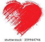 set of hearts . grunge stamps... | Shutterstock .eps vector #359964746
