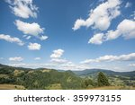 Blue Sunny Sky Over Hills