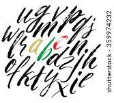 alphabet lowercase letters.... | Shutterstock .eps vector #359974232