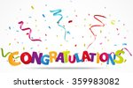 congratulations with confetti