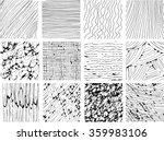 hand drawn vector line textures.... | Shutterstock .eps vector #359983106
