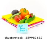 present of vegetables and... | Shutterstock . vector #359983682