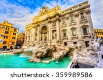 Rome  Trevi Fountain. Italy.