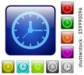 set of clock color glass...