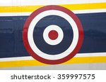 circle flag on airplane | Shutterstock . vector #359997575