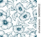 monochromatic seamless floral... | Shutterstock .eps vector #360008312